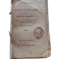 Elementi di storia naturale di Giovanni Cancilla professore di questa facoltà nella Reale Accademia di Palermo.